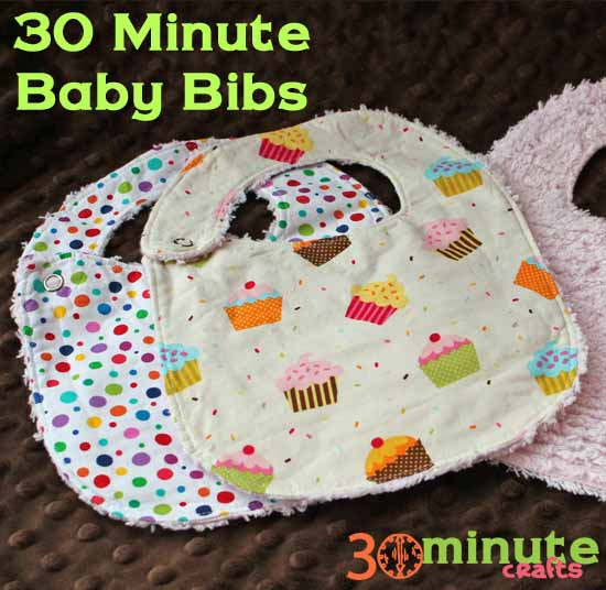 Quick and easy baby bib 30 minute crafts tattoo design bild for Most popular diy crafts