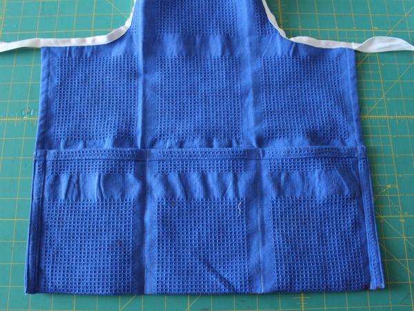 pockets on tea towel apron
