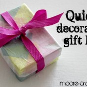 Quick Decorated Gift Box