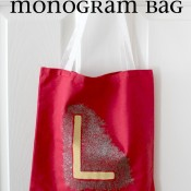quick painted monogram bag