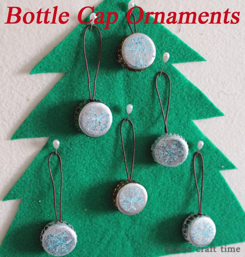 Bottle cap ornaments 30 minute crafts for Bottle cap christmas crafts
