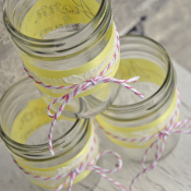 Pink Lemonade Mason Jars from Cherished Bliss