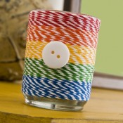 Mod Podge Rocks Baker's Twine DIY Votive Craft Final