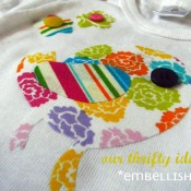 Our Thrifty Ideas No-Sew Onesie