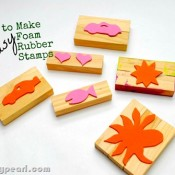 Silly Pearl - make easy foam rubber stamps