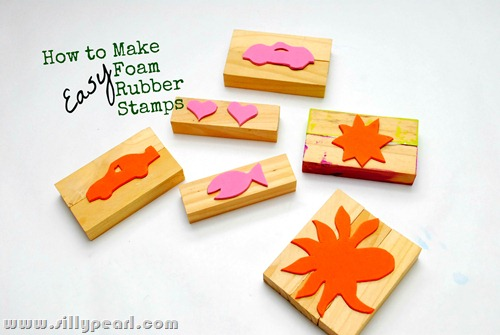 Make Simple Foam Rubber Stamps 30 Minute Crafts