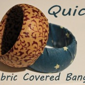 quick fabric covered bangle bracelet