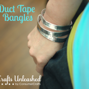 Duct Tape Bangle Bracelets