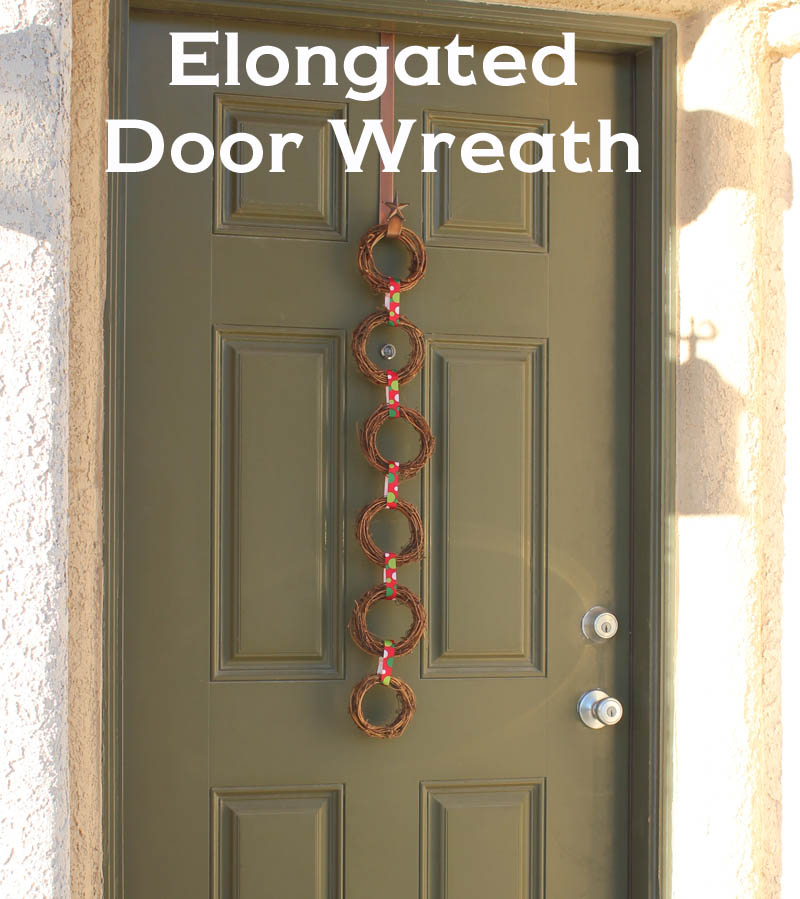 Elongated Door Wreath