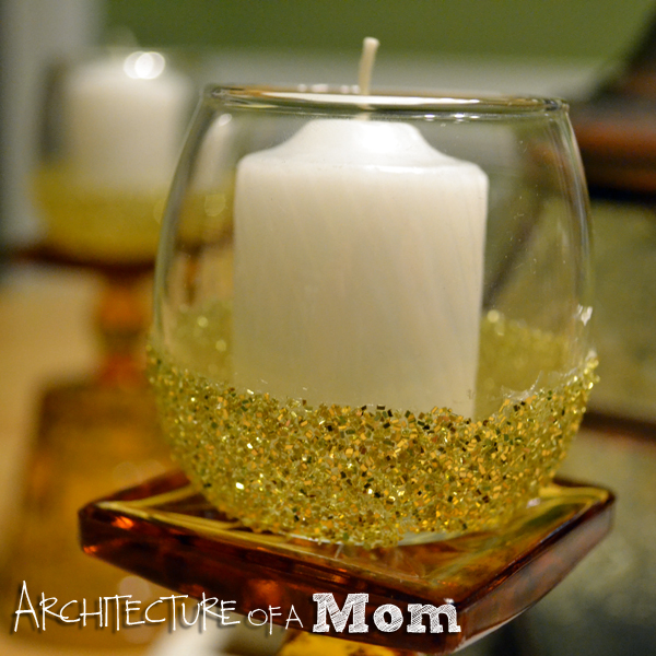Glitter Votive Holder Architecture of a Mom