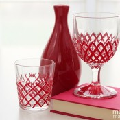 Painted cut glass - Madigan made