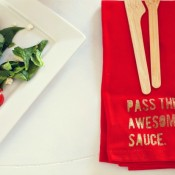Pass The Awesome Sauce Napkin - Elizabeth Kartchner