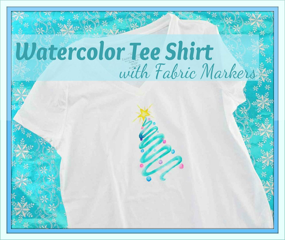 Watercolor Christmas T Shirt with Markers