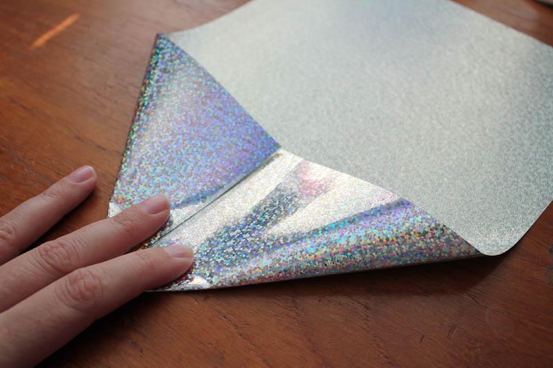 make shimmer snowflake