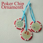 poker chip ornaments