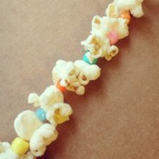 popcorn bead christmas tree garland