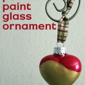 poured paint glass ornament