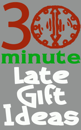 30 minute crafts late gift ideas