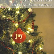 Glitter Christmas ornaments - hodge podge of styles