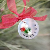 Hand Stamped Ornament - Crazy Little Projects