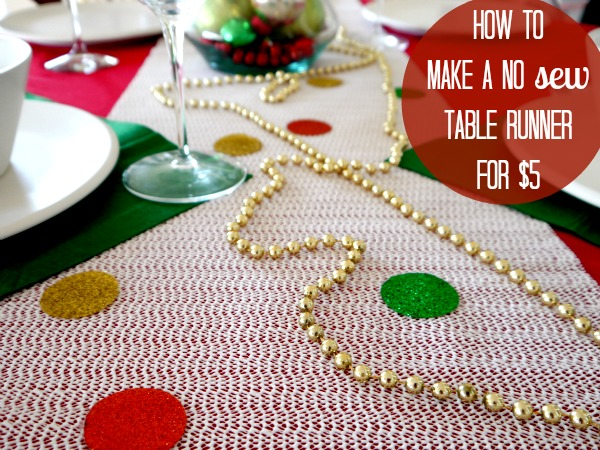 No sew cheap easy Table Runner CRAFT