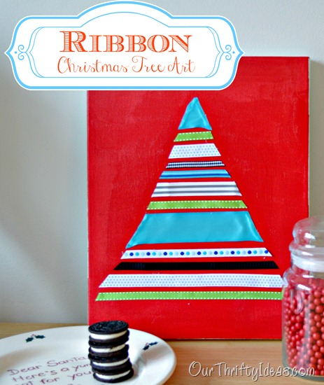 Ribbon Christmas Tree_Our Thrifty Ideas