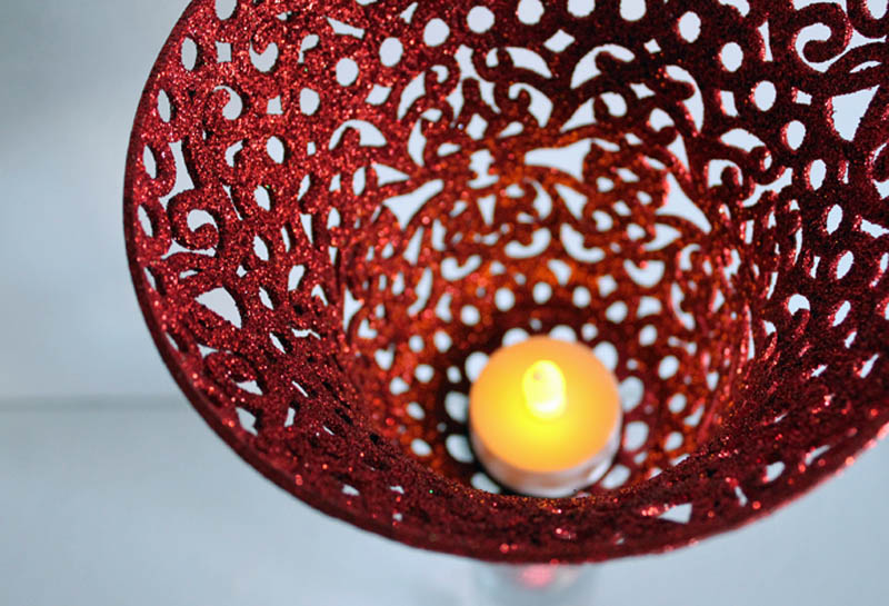 candle in sconce