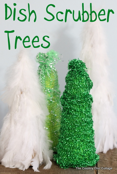 dish scrubber trees - the country chic cottage