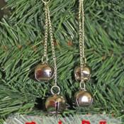 easy fast jingle bell earrings