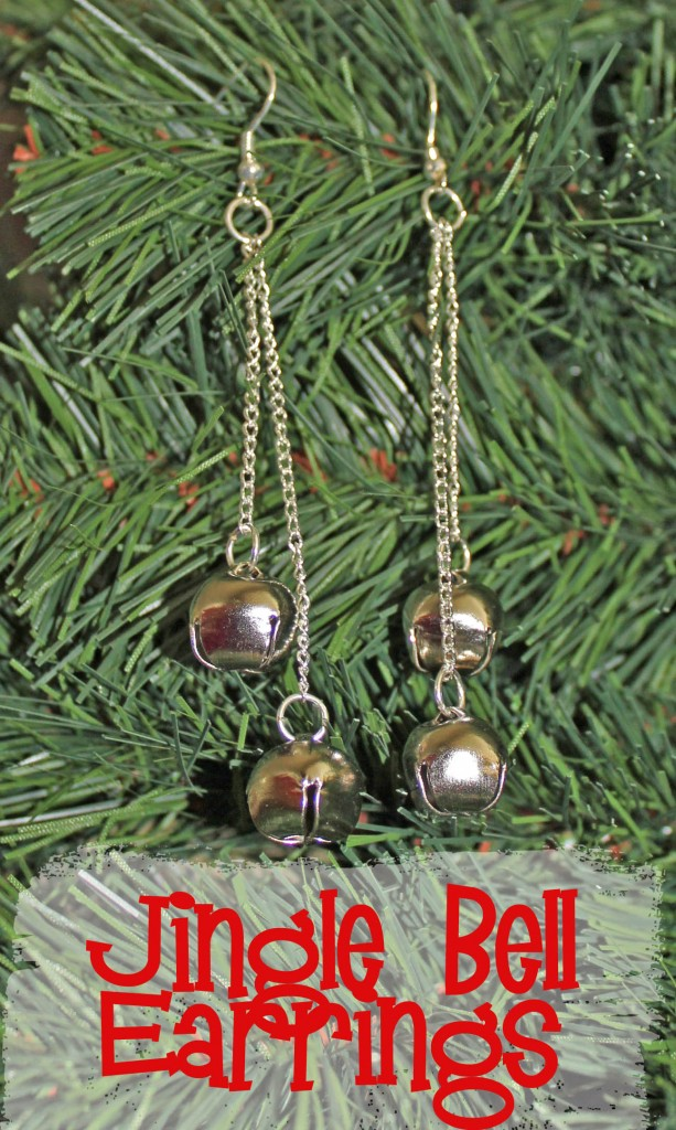 easy fast jingle bell earrings