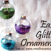easy glitter ornaments
