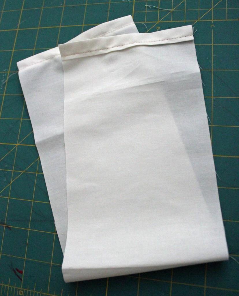 hem edge of the reindeer bag
