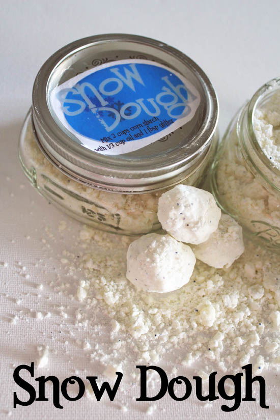 make snow dough