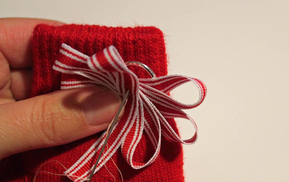 stitch on ribbon