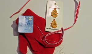 supplies for mitten ornament