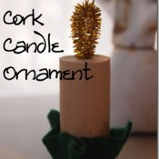 wine cork candle ornament - my very educated mother