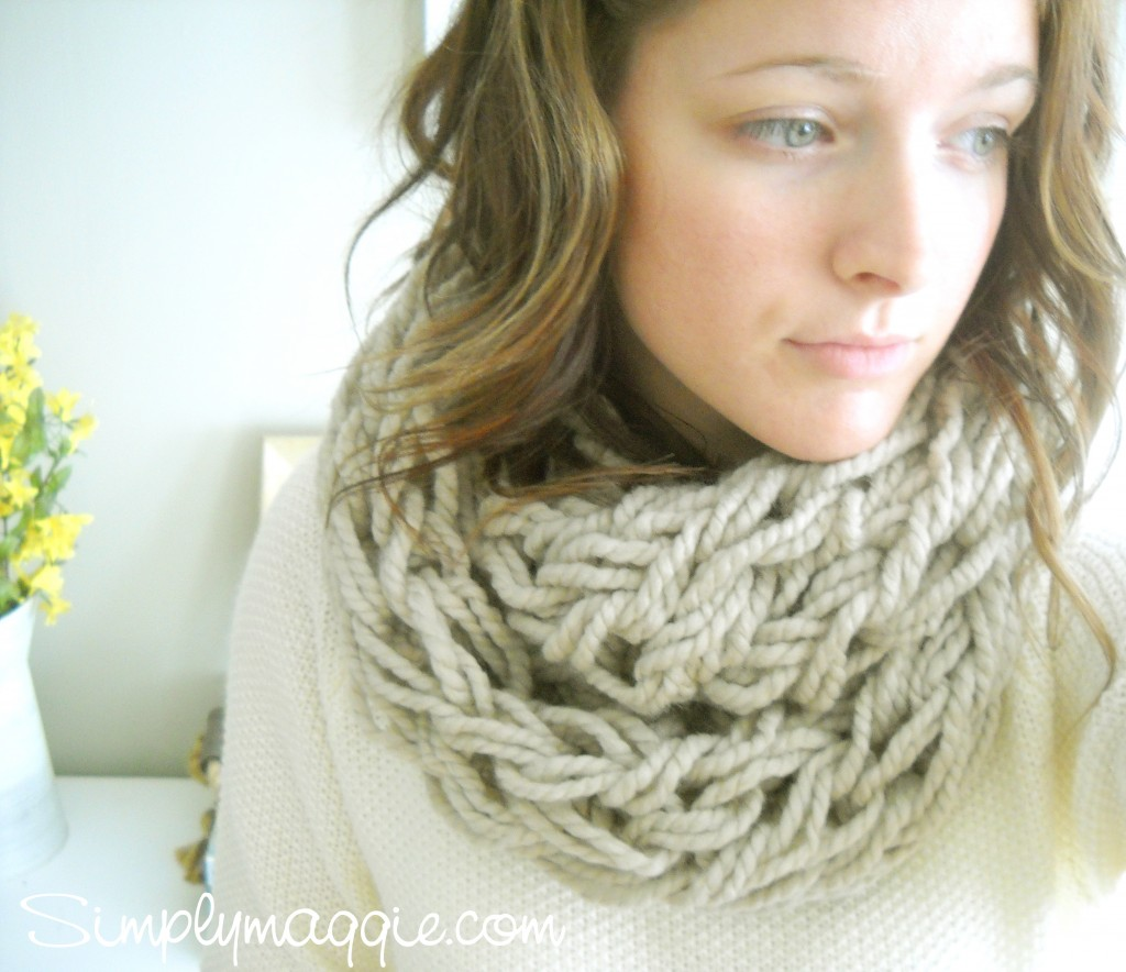 30 minute knitted scarf by simply maggie