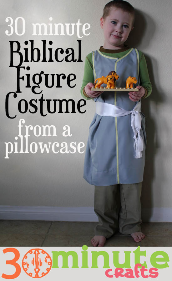 Biblical Figure Costume From a Pillowcase in 30 Minutes  sc 1 st  30 Minute Crafts & Make a 30 Minute Biblical Figure Costume from a pillowcase