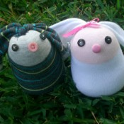Cute Sock Bunnies - Crafting Hazard