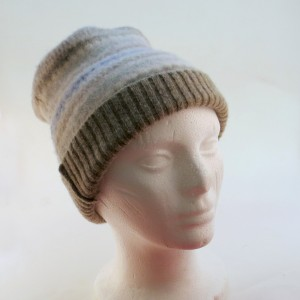 Hat from a wool sweater
