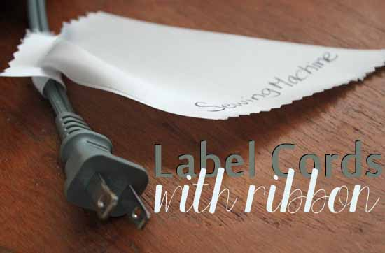 Label Cords With Ribbon