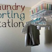 Clean Laundry Sorting Station