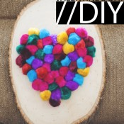 Valentine DIY pom pom plaque