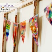 Watercolor pennants from Jaderbomb