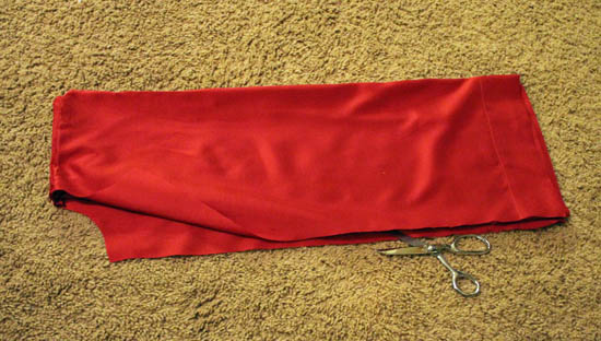 cut front of bible robe costume