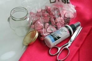 glass jar rose supplies