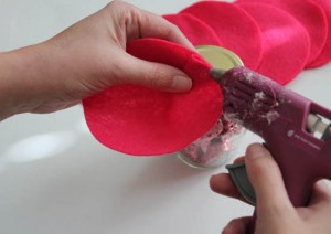 glue on first rose petals