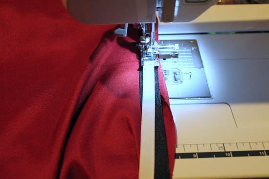 sew trim onto biblical robe costume