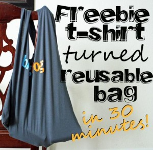 T shirt made into reusable bag 30 minute crafts for Reusable t shirt bags
