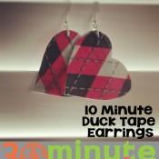 Duck Tape Earrings in 10 Minutes